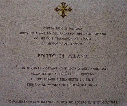 plaque-commemorative-de-ledit-de-milan-eglise-st-georges-du-palais Constantin le Grand dans Vexilla Regis