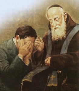 Saint Léopold confessant
