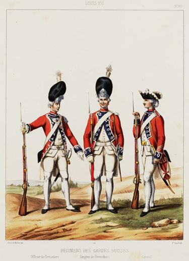 gardes-suisses-sous-louis-xvi 10 août 1792 dans Memento