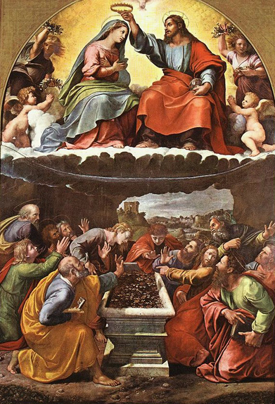 Prière à Notre-Dame de l'Assomption dans De liturgia giulio-romano-assomption-et-couronnement-de-la-vierge