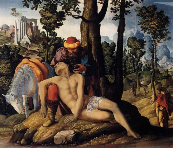 Le Bon Samaritain (anonyme 1537 Amsterdam)