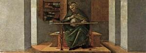 Sandro Boticelli St Augustin dans sa cellule