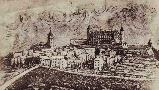 banne-gravure-du-chateau-avant-son-incendie contre-révolution