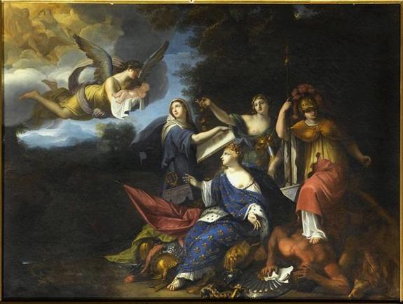 gabriel-blanchard-allegorie-de-la-naissance-de-louis-dieudonne 1638 dans Vexilla Regis