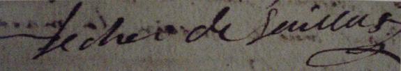 signature-du-comte-de-saillans-1767-sur-les-registres-paroissiaux-de-largentiere Gévaudan