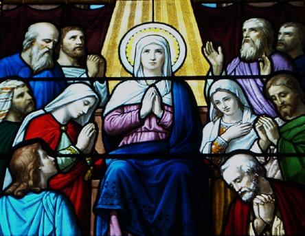 vitrail-notre-dame-du-cenacle Cénacle dans Nos amis les Saints