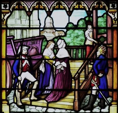 vitrail-de-lexecution-de-s.m.-la-reine-marie-antoinette-eglise-de-la-boissiere-de-montaigu 16 octobre dans Vexilla Regis