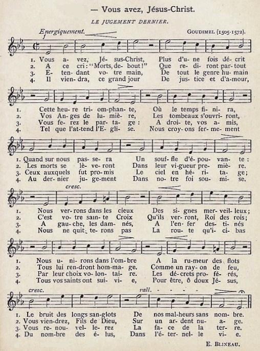 Cantique du Jugement -  Vous avez, Jésus-Christ