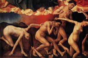Rogier van der Weyden les damnés (détail triptyque jugement - Beaune)