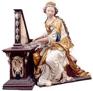 Ste Cécile touchant de l'orgue