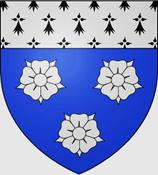 2013-81. In memoriam : Joseph-Etienne de Surville, marquis de Mirabel, et Dominique Allier. surville-dazur-a-trois-roses-dargent-au-chef-dhermines