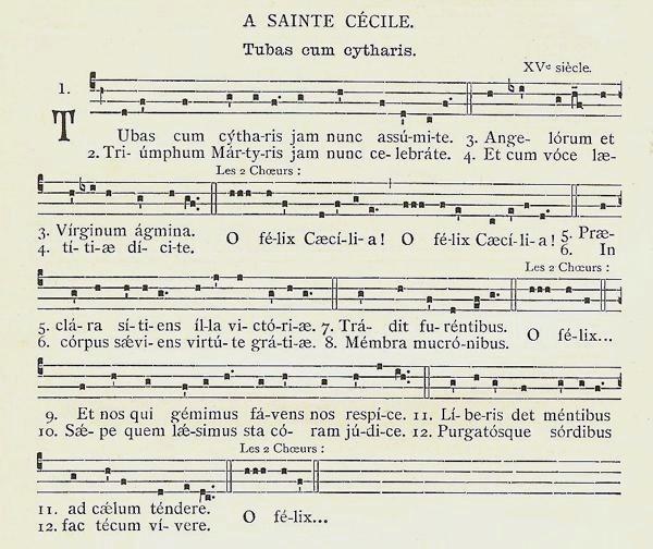 Tuba cum cytharis - Sancta Caecilia