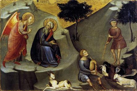 Bartolo di Fredi l'annonciation à St Joachim - Pinacothèque vaticane