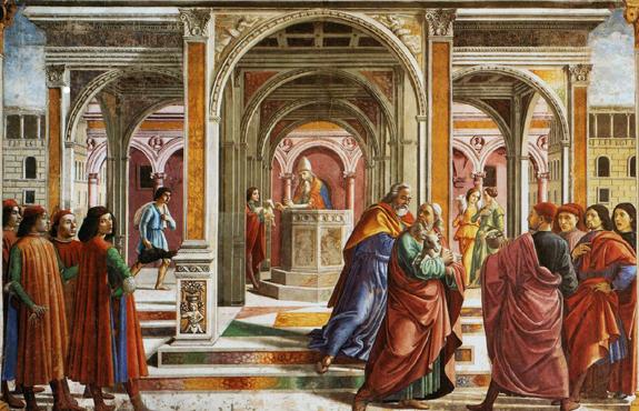 Domenico Ghirlandaio Joachim chassé du temple - Florence Santa Maria Novella
