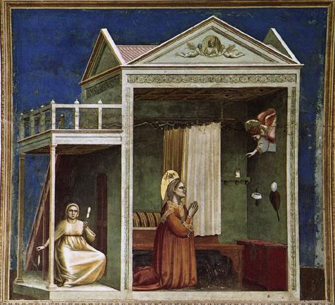 Giotto di Bondone l'annonciation à Ste Anne - Chapelle Scrovegni Padoue