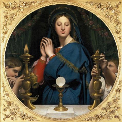 Ingres la Vierge à l'Hostie musée du Louvre
