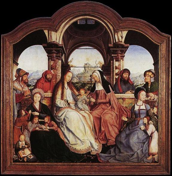 Quentin Massys triptyque de Ste Anne partie centrale la sainte parenté