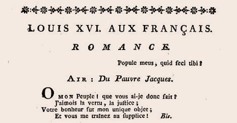 Complainte Louis XVI