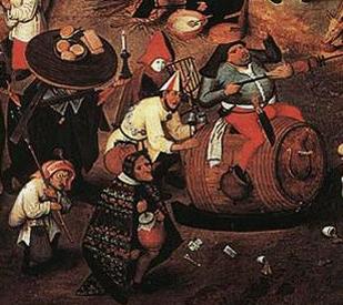Brueghel bataille détail=carnaval