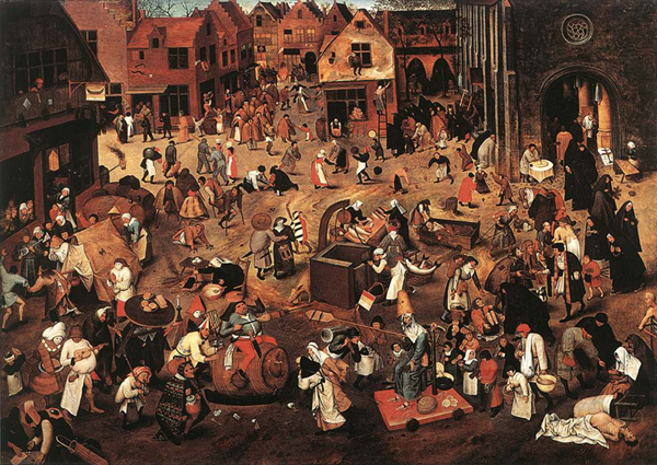 Brueghel bataille du carnaval et du carême