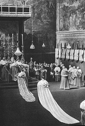 Election de Pie XII hommage des cardinaux