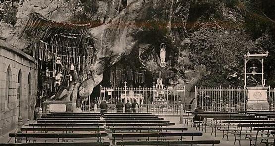 Grotte de Lourdes état ancien