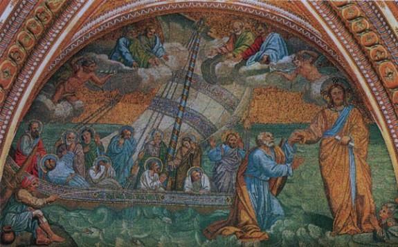 la Navicella mosaïque d'après Giotto Vatican