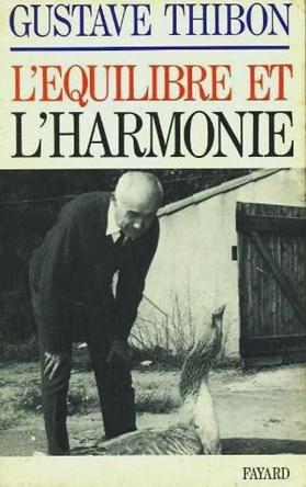 L'équilibre et l'harmonie Gustave Thibon