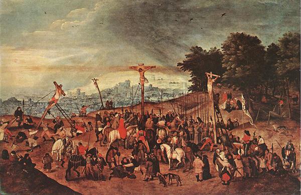 Pierre Brueghel le jeune, la Crucifixion