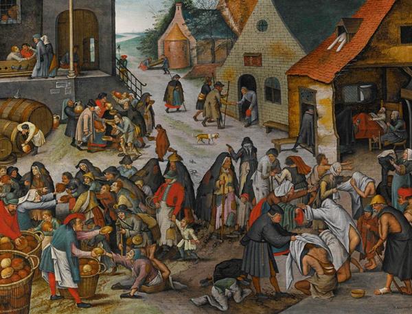 Pierre Brueghel le jeune, les sept oeuvres de miséricorde