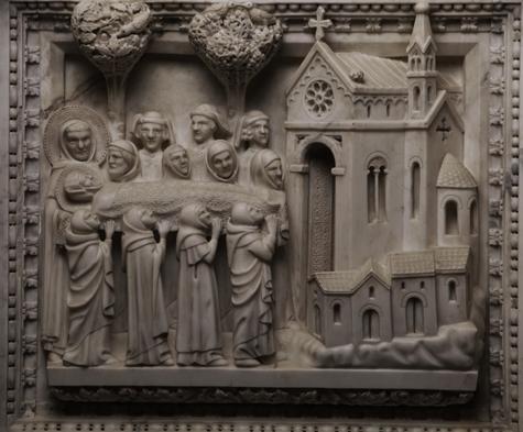 St Fulgence fait transporter le corps de St Augustin à Cagliari