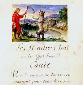 Manuscrit du Chat botté 1695