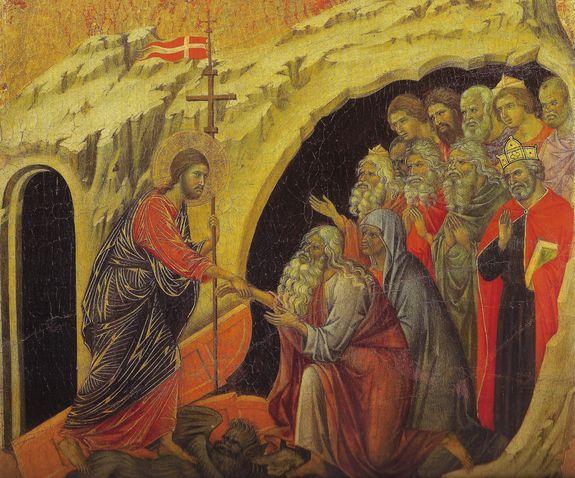Descente aux limbes, Duccio, Maesta, Sienne