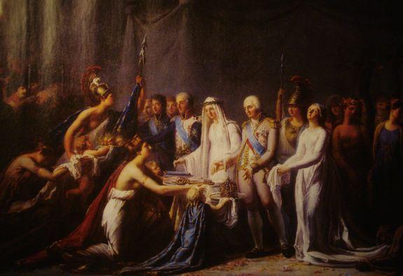 Legrand - allégorie de l'entrée de Louis XVIII dans Paris 3 mai 1814 - (Musée Carnavalet)
