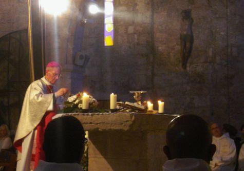 Son Excellence Monseigneur R. Wattebled à Aigues-Mortes le 25 avril 2014