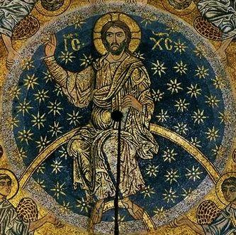 Basilique Saint-Marc Venise mosaïque de l'Ascension (coupole) 1175-1200 - détail