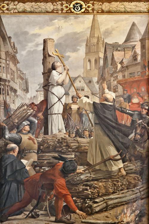 Jeanne d'Arc sur le bûcher,  Jules-Eugène Lenepveu (1886-90)