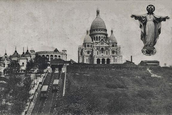 la basilique du Sacré-Coeur de Montmartre vers la fin du XIXe siècle