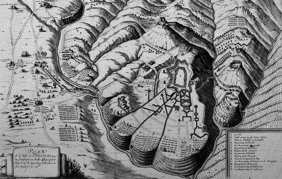 Le siège de Privas en 1629 gravure d'Abraham Bosse