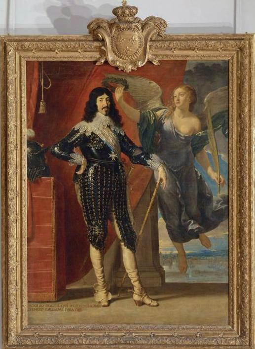 P. de Champaigne Louis XIII couronné par la victoire