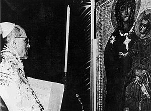 Pie XII couronnement de l'icône Salus Populi Romani