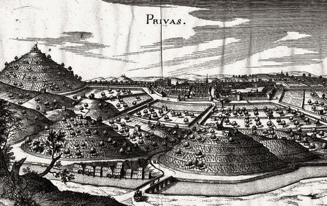 Privas peu avant le siège de 1629