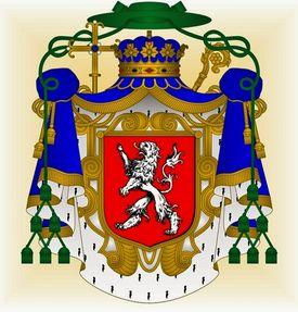 Armoiries de Robert de Thourotte, prévot de Liège, évêque-duc de Langres & pair de france puis prince-évêque de Liège