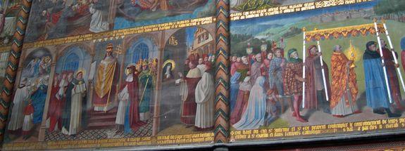 Basilique Saint-Martin de Liège fresque Adolphe Tassin  institution de la Fête-Dieu