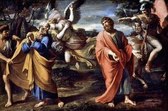 François Perrier les adieux de Saint Pierre et Saint Paul - 1647-50 musée de Rennes