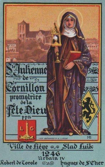 Image commémorative du 7e centenaire de la première Fête-Dieu - Liège 1946