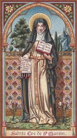 image néo-gothique représentant Sainte Eve de Saint-Martin