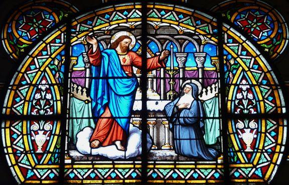 Vitrail de la chapelle du Sacré-Coeur église de Bagnères de Luchon