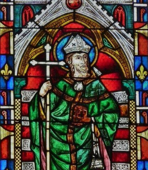 Vitrail de Saint Martial à la cathédrale Saint-Etienne de Sens