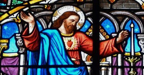 Vitrail du Sacré-Coeur église de Bagnères de Luchon - détail 1